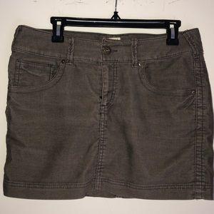 H&M Khaki Courderoy Miniskirt